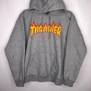 Thrasher hoodie Gray